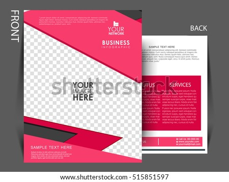 Flat Trifold Brochure Design Catalog Vector Stock Vector