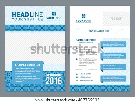 Business Brochure Design Template Vector Flyer Stock Vector