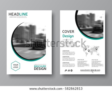 Annual Report Cover Brochure Template Vector Stock Vector