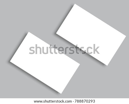 Business Card Blank Over Office Table Stock Photo - Business card blank template