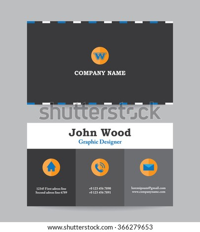 business card business card template business card design modern business card vector