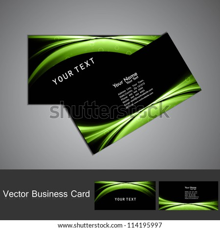 Modern Vector Business Card Green Yellow Stock Vector 130641770 ...