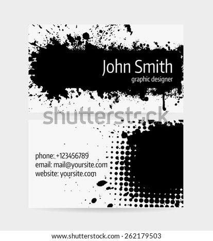 stock vector business card template front and back side grunge design 262179503 vector tyre brochure cover template modern stock vector 491939572 on template visit card