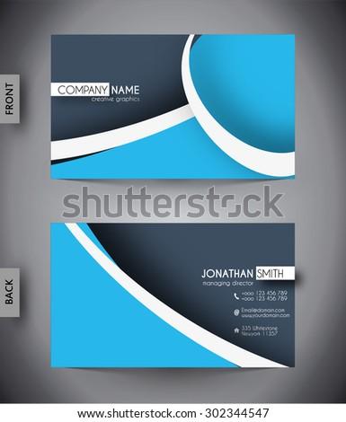 business card template vector stock vector 416440582