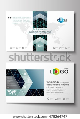 Business Card Templates Cover Design Template Stock Vector - Virtual business card template