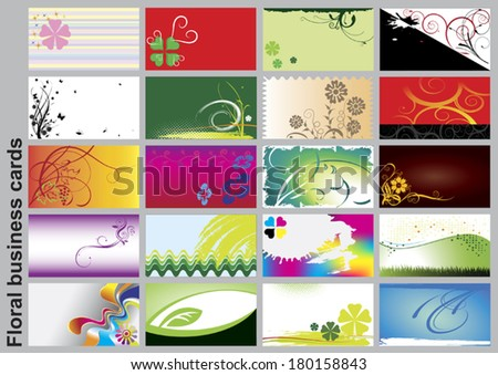 Business cards_floral