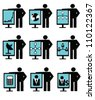 Business concept and resource ,icon set,Vector - stock vector