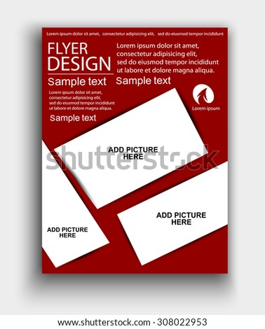 Vector Design Red Flyer Whit Place Stock Vector 233514694