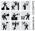 Business human resource,icon set,Vector - stock photo