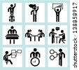 business icons, business management and human resource icon sets - stock vector