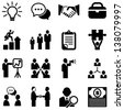 Business Icons - Set of business icons isolated on a white background.  Eps8. - stock photo