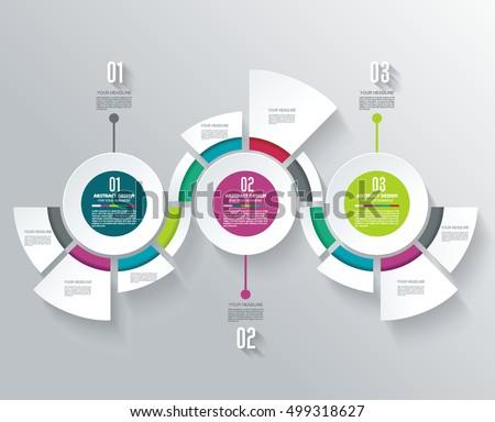 Business Infographics in circle segments origami style. Vector illustration. Can be used for workflow layout, banner, diagram, number options, step up options, web design.