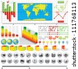 Business Infographics Kit. Vector Icons, Symbols, Elements and Graphs for your Design. - stock vector