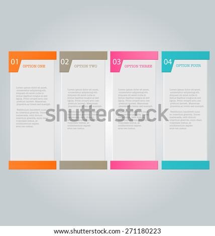 Business Infographics Template Presentation Education Web Stock ...