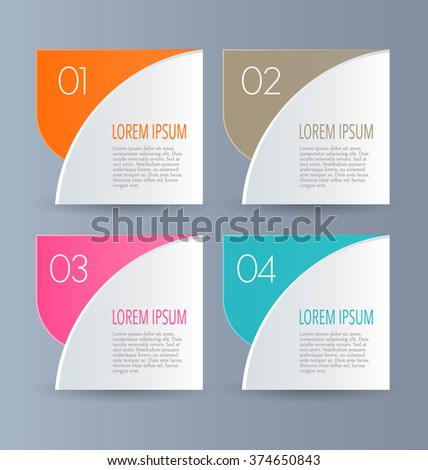 Infographics Template Business Education Web Design Stock Vector