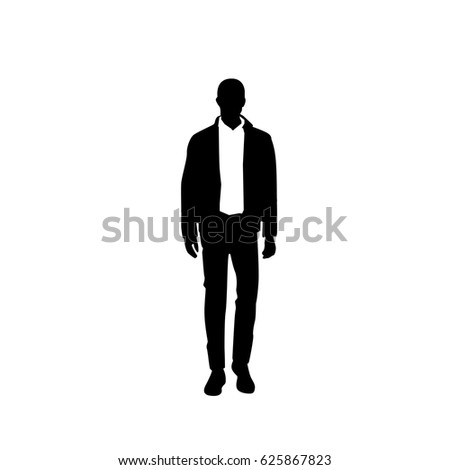 Business Man Man Suit Vector Silhouette Stock Vector ...
