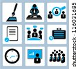 business management and human resource icon set - stock vector