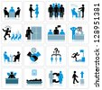 Business Management and Human Resources Icon Set. Vector Graphics - stock vector