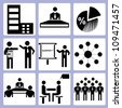 business management, business development icon set - stock vector