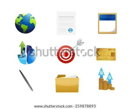 business management concept icon set illustration design over white