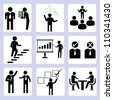 business management icon set - stock vector
