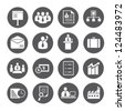 business management icon set, company management  icon set - stock vector