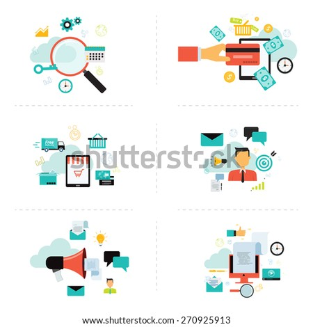 business marketing and shopping on line icon element  for info-graphic