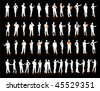 Business People Silhouette 52 unique high-detailed silhouettes featuring beautiful sexy models  File is easy to manage - stock vector