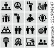 Business persons, businessman, management, human resources. Icons set. - stock photo