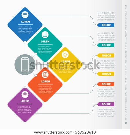 Infographic Timeline Time Line Tendencies Trends Stock Vector ...