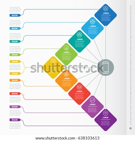 infographics design template icons process diagram stock vector 719846317 shutterstock. Black Bedroom Furniture Sets. Home Design Ideas
