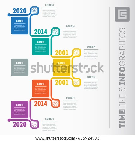 Business Presentation Timeline Concept 5 Options Vector – Timeline Website Template
