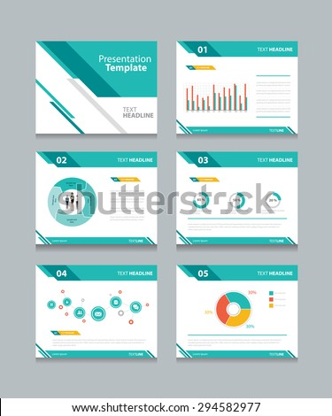 business presentation template setpowerpoint template design stock, Modern powerpoint