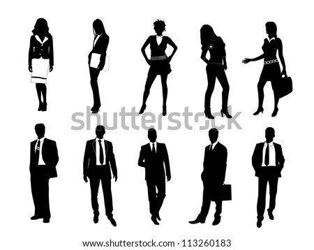 Business silhouette