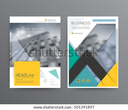 Business template for brochure, annual report, flyer or booklet. Abstract multicolored leaflet cover presentation in A4 size, abstract background of geometric vector layout, modern style
