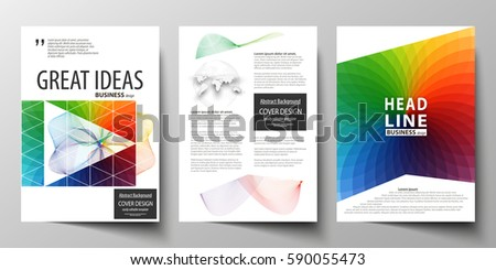 Business Bifold Brochure Magazine Cover Design Stock Vector ...