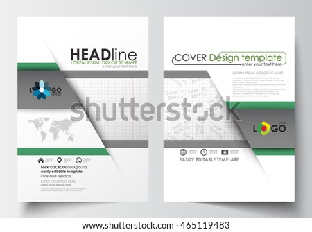 Green Black Abstract Flyer Layout Template Stock Vector 443239015 ...
