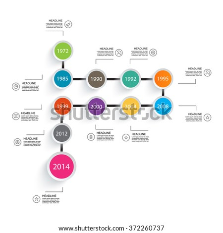 Infographic Ideas easy infographic template : Circular Timeline Infographics Template Stepwise Structure Stock ...
