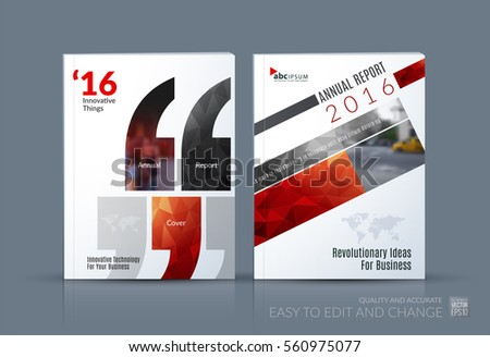 Business vector brochure template layout cover stock for Brochure design quotation