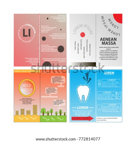 Health Flyer Leaflet Brochure Template A Stock Vector - Asthma brochure template