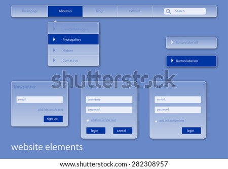 business web elements