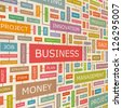 BUSINESS. Word collage. Vector illustration. - stock photo