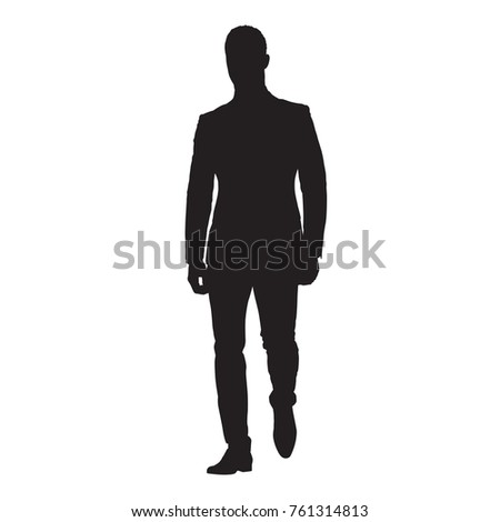 Business Man Walking Forward Front View Stock Vector ...