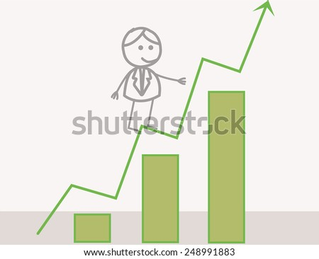 Businessman Profit Chart