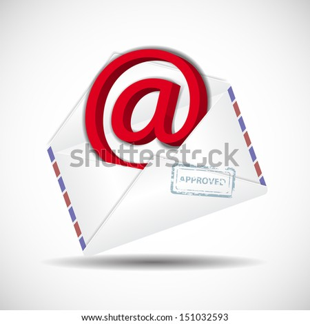 bussines envelope as a icone of email correspondence