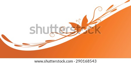 butterfly design with background
