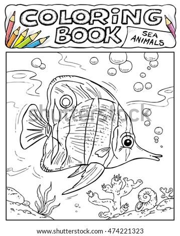 Cartoon Orange Fish Stock Vector 86278012