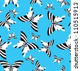 Butterfly - seamless pattern - stock vector