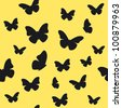 Butterfly yellow pattern. Vector illustration - stock photo
