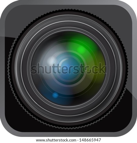 button with lens icon